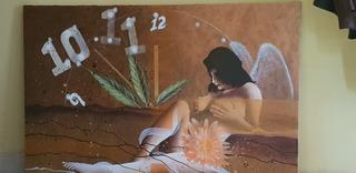 A Crilico Sobre Lona (pintura) Tamaño 102x62 Cmm