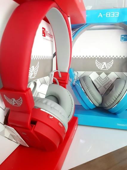 Fone Ouvido Bluetooth Mp3 Rádio Fm Micro Sd Sh12