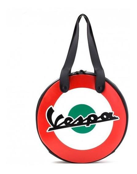 Bolso Cartera Vespa Redonda Italia Original Moto Plex Tuc