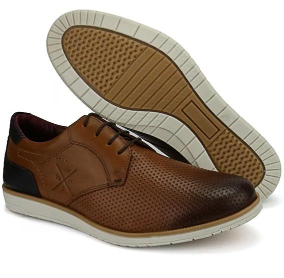 Sapato Oxford Social Clássico Casual Masculino Couro