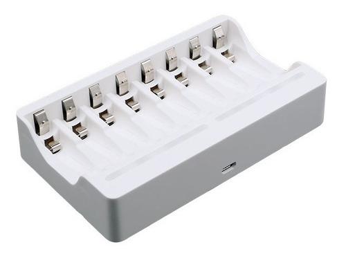 Cargador Pilas Baterías Recargables Aa/ Aaa 8 Puertos Beston