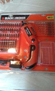 Atornillador Black Decker Electrico 49 Piezas Dto Ctado