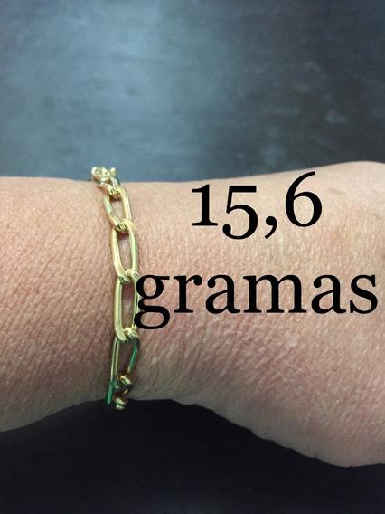 Pulseira Masculina Peso 15.6 Gramas Ouro 18k/750