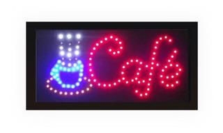 Painel De Led Letreiro Luminoso Placa Café - 110v