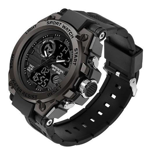 Relógios Masculino Aço Grande Pesado Todo Funcional