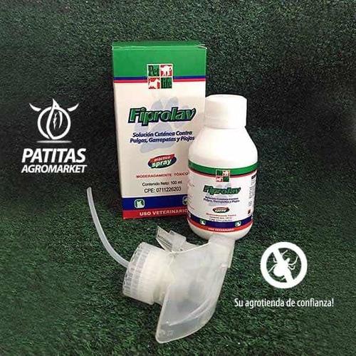 Fiprolav Spray 100 Y 250ml Garrapatas Y Pulgas