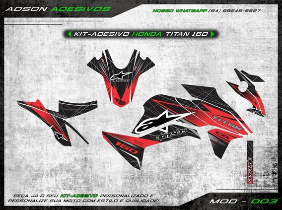 Kit Adesivo Honda Cg Titan 160 Kit Gráfico Alpinestars