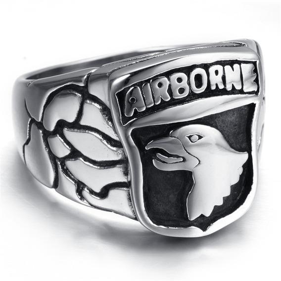 Anel 101ªst Airborne Band Of Brothers Aço 316l