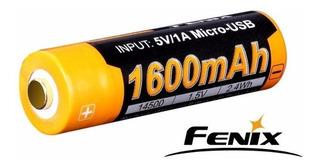 Bateria Pila Fenix Recargable Usb 14500 1.5v 2.4wh 1600mah