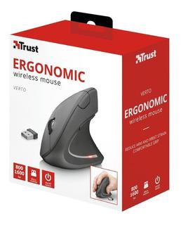 Mouse Vertical Inalambrico Trust Verto Usb Ergonomico 1600dp