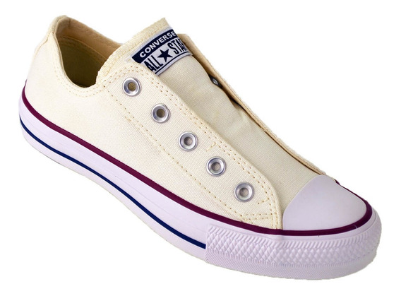 Zapatilla Converse All Star Slip Sin Cordon Original Crema