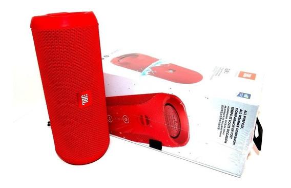 Caixa Som Bluetooth Jbl Flip 4 - Original - Vermelha C/ Nfe