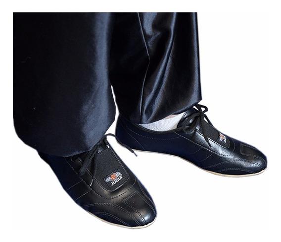 Sapatilha Sapato Ecocouro P/ Kung Fu Antiderrapante - Jugui
