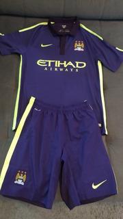 Conjunto (camisa E Calção) Oficiais Do Manchester City Nike