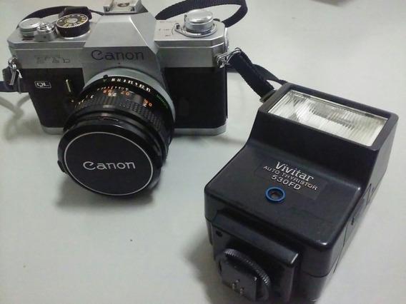 Máquina Fotográfica Analógica Cannon Ftb