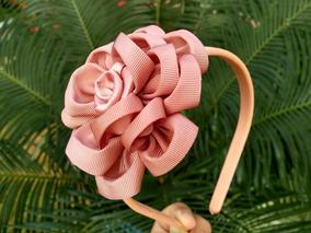Tiara Com Flor Rosa Nude 1 Unidade Proxixo Arts