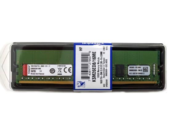 Memória 16gb Kingston Ddr4-2666 Ecc Udimm Dell R240 R340 T140 T340 Hp Dl20 Ml30 Gen10 Lenovo P330 Sr250 St250 St50