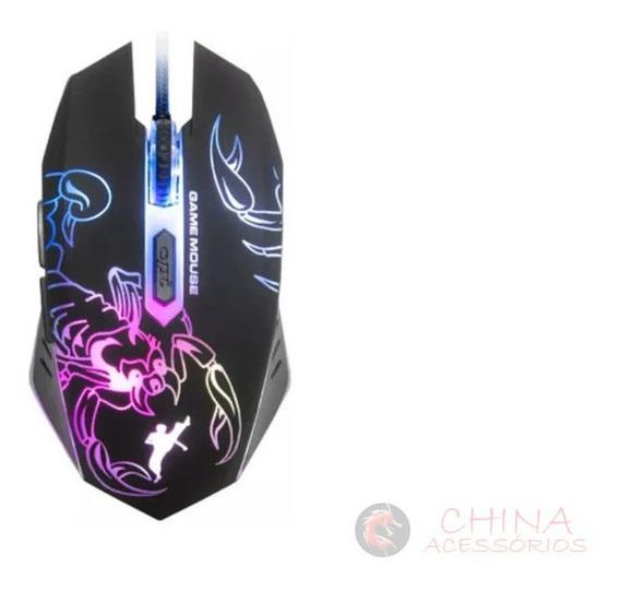 Mouse Light Gamer Pisc Fighter 01879 6 Bot. 2400dpi Usb
