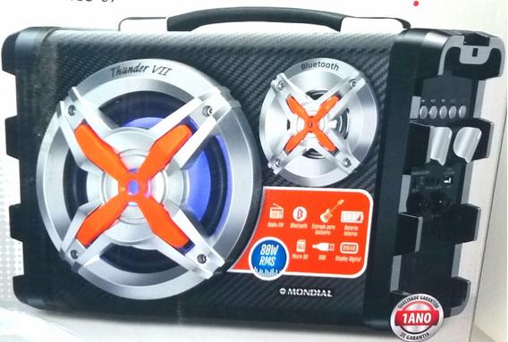 Caixa De Som Amplificada Bluetooth 80w Portátil Bivolt Usb
