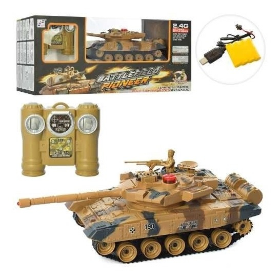 Carro Tanque De Guerra Com Controle Remoto Escala 1:28 Luxo