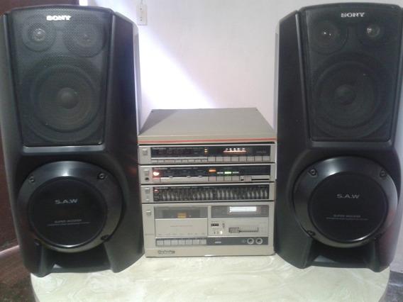 Amplificador + Ecualizador + Radio+deck+cornetas Sony
