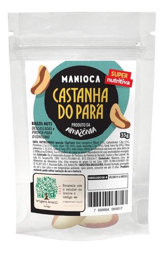 Castanha Do Pará 35g Manioca - 100% Natural