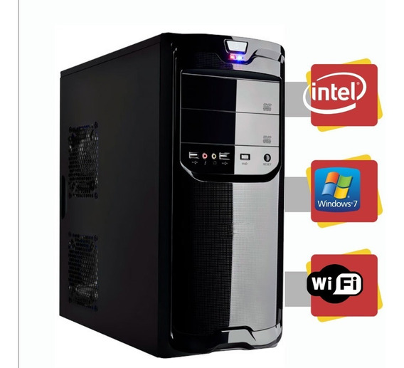Computador Intel Dual Core 4gb Hd 500gb Windows 7 Com Wi-fi