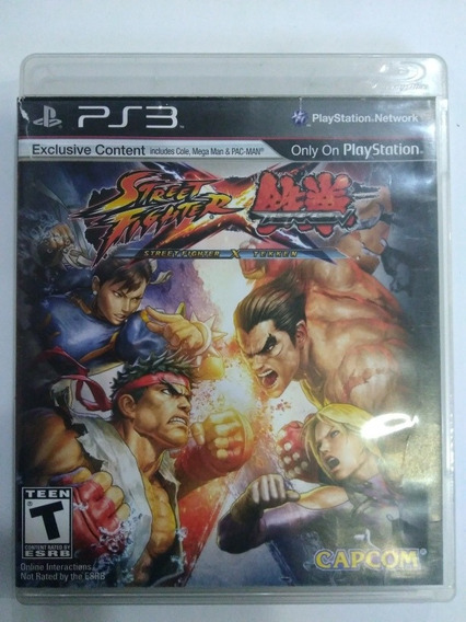 Jogo Street Fighter Vs Tekken Ps3 Midia Fisica R$49,9