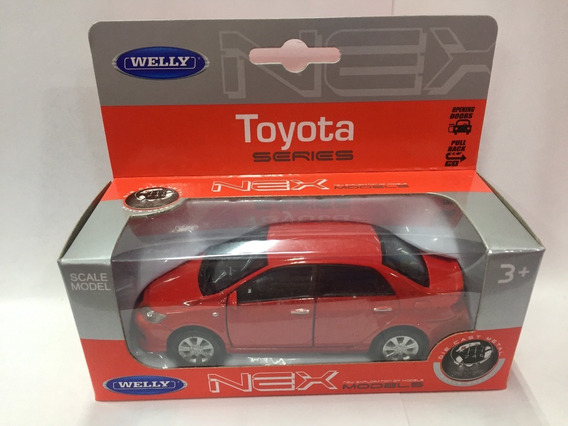 Welly Toyota Corolla 1:36 Pull Back Metal Coleccionable