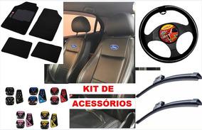 Super Kit Capa De Banco Couro Automotivo Fiesta Hatch 2010
