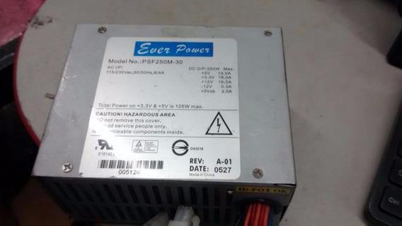 Mini Fonte 20 Pino + Sata Ever Power Psf250m-30 Chaveada