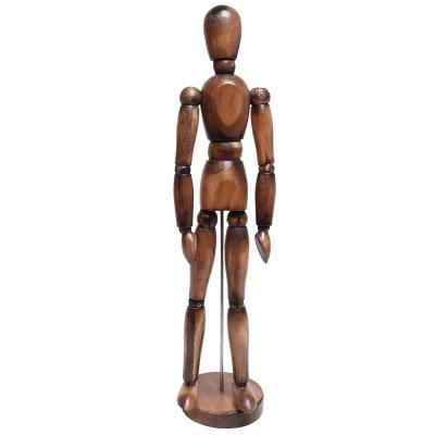 Boneco Manequim Articulado 30cm Vintage Marrom