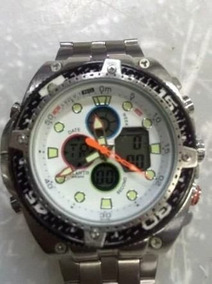 Relógio Atlantis G3088 Prata Fundo Branco Masculino Original