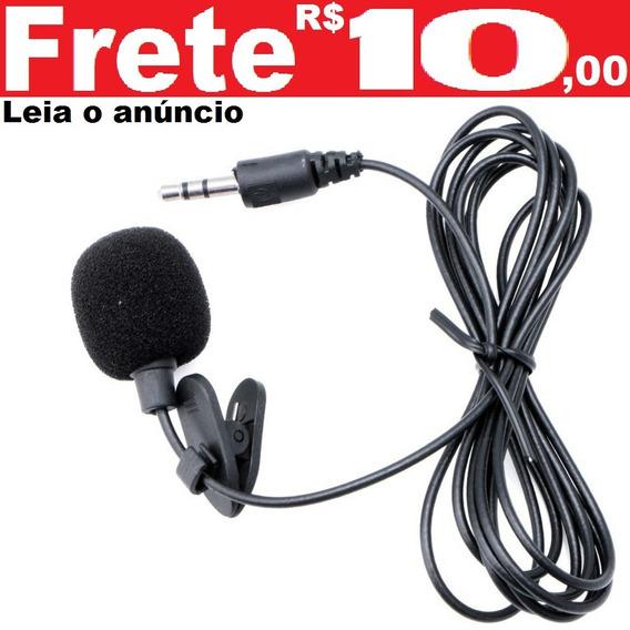 Mini Microfone De Lapela Plug P2 Stéreo Ótima Captura
