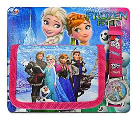Coleção Com Carteira E Relógio De Pulso Frozen Disney D