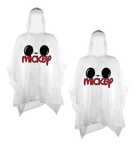 Disney Juego De 2 Ponchos De Lluvia Para La Familia Mickey O