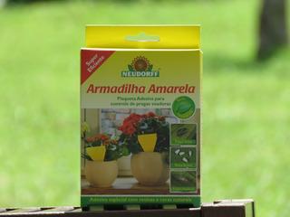 Armadilha Biotecnológica Amarela Pequena Para Plantas Baixas