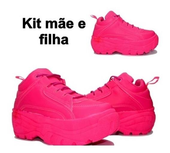 Kit Mae E Filha Tênis Feminino Sneaker Chunky Plataforma