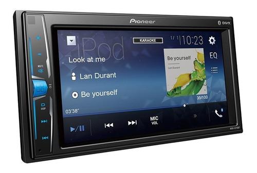 Imagen 1 de 10 de Estereo Pioneer Mvh-a215bt Doble Din 6,2 Tactil Bluetooth