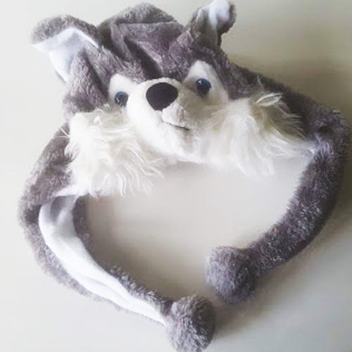 Gorro Gorra Lobo Peluche Animal En Temperley