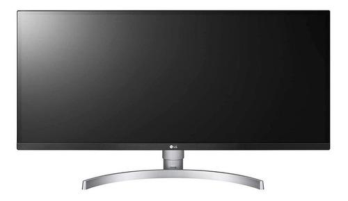 """Imagem 1 de 5 de Monitor gamer LG UltraWide 34WK650 led 34"""" branco e preto 100V/240V"""