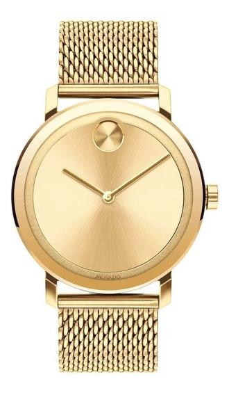 Relógio Movado Masculino Aço Dourado