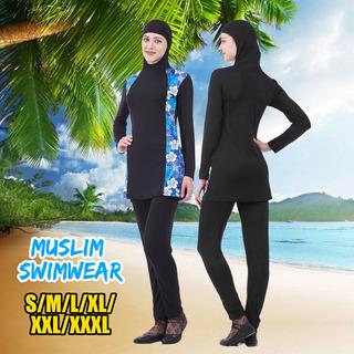S-3xl Modestia Mujeres Traje De Baño Musulmán Traje De Baño
