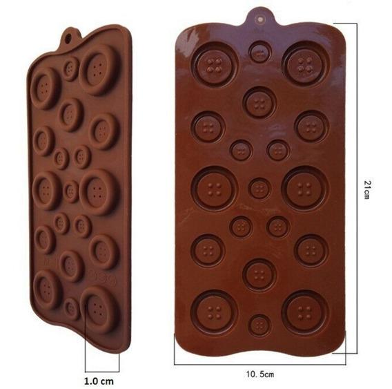Molde E Molde Botão: Chocolate,pasta Americana, Biscuit