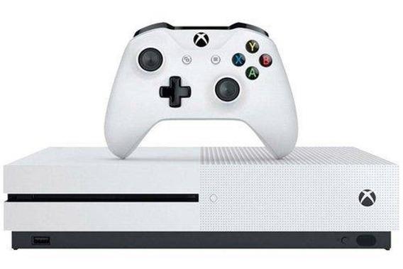 Xbox One S 500 Gb + 1 Controle + 4 Jogos + Pilhas Recarregav