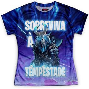 Camiseta Baby Look Feminina Fortnite Md04