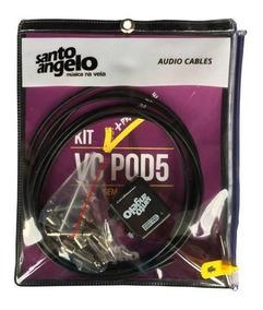 Kit Cabos P/ Pedais Santo Angelo Vc Pod 3 Metros - Cb0023