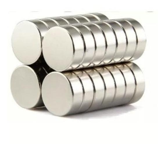 Imã Neodímio N35 Disco 15x5 Mm Força Aprox.4,5kg 5 Unidades