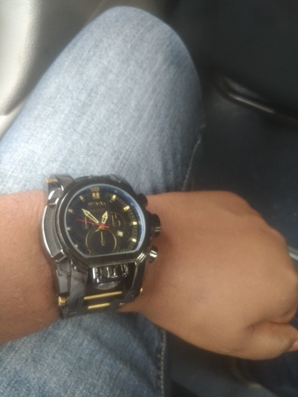 Relógio Bolt Magnum Black Top Luxo Pesado Aço Grande Barato