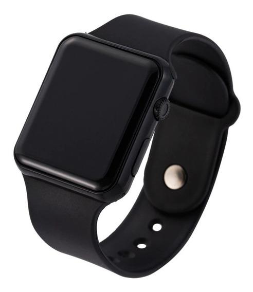 Relógio Digital Led Simples Estilo Smart Watch Masculino Feminino Data E Hora